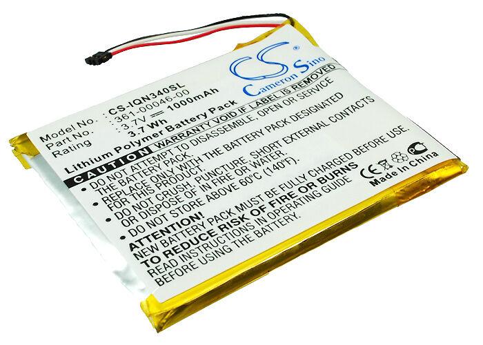 Garmin Nuvi 3450M Batteri til GPS 1000 mAh 55 x 45 x 4 mm