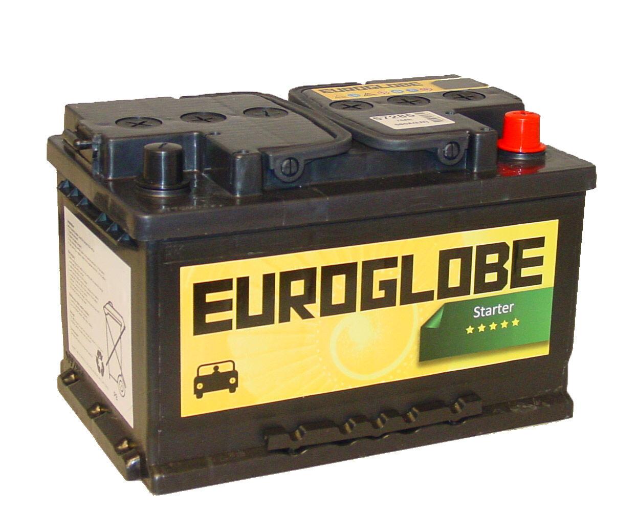 Euroglobe 57285 75Ah Startbatteri 680CcA - Bestselger! 278x175x175mm