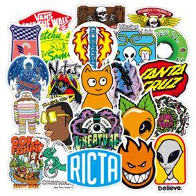 100Pcs DIY Stickers brand Cartoon Waterproof PVC Children Mixed Toy Vsco Sticker for Skate Trunk Bike Motorcycle wallpaper