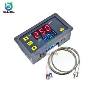 Intelligent Thermostat Temperature Control 1 Way 10A Relay -60~500 Degree K Type M6 Thermocouple Sensor DC 5V 12V 24V AC 220V