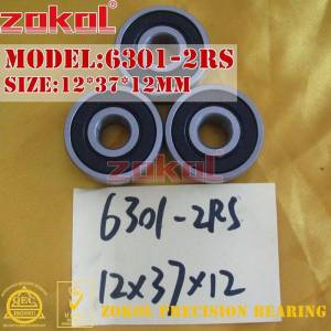 ZOKOL 6301 ZZ RS bearing 6301 2RS 6301ZZ Z1 6301-2RS Deep Groove ball bearing 12*37*12mm