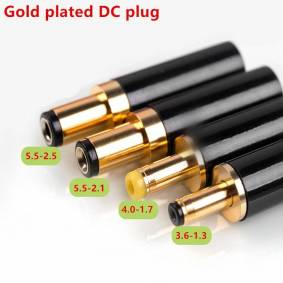 Gold Plated DC Plug 5.5*2.5 5.5*2.1 4.0*1.7 3.5*1.3 for DAC TV Box Amplifier Power Cable G50