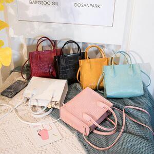 Mini Small Square Bags for Women Ladies Shoulder Bag PU Solid Color Buckle Messenger Bag Small Square Handbag