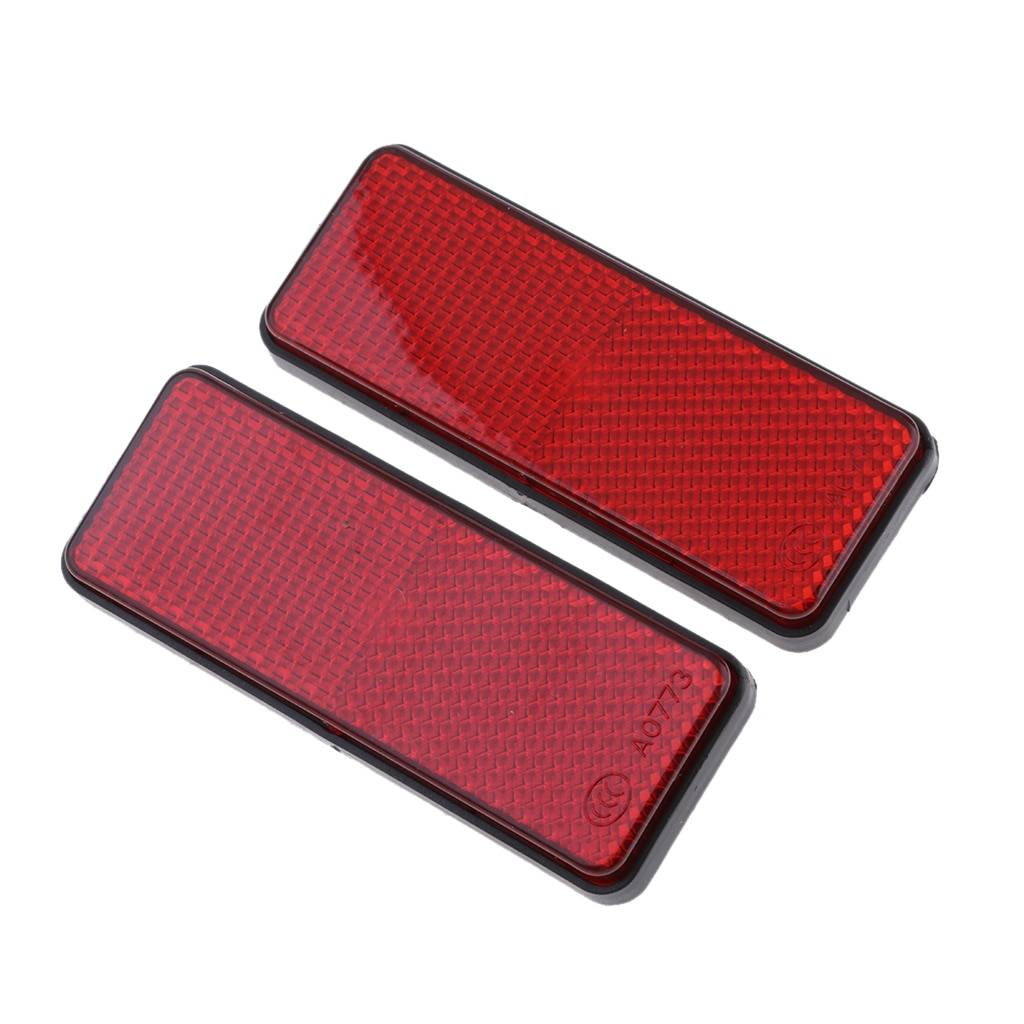 1 Pair Red Motorcycle Reflector Reflective Strips For Motorcycle ATV Scooter Dirt Bike Moped 4 Wheeler farol auxiliar moto 98mm