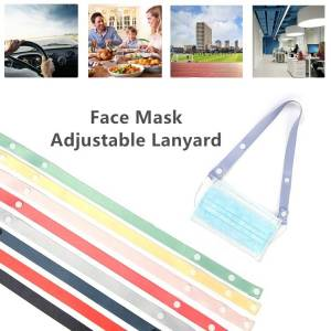 Face Mask Extension Belt Multi-function 9 Colors Soft Anti-pain Ear Neck Hanging Rope Adjustable Traceless Face Shield Lanyard