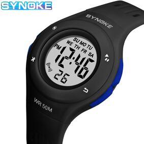 SYNOKE Children Watch Sport Student Kids Watches Boys Girls Clock Gift LED Digital Electronic Clock For Boy Girl Wristwatch