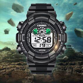Kids Watches For Boy Bracelet Led Digital Sports Watch Men Silicone Rubber Watch Children Luminous WristWatch Clock Gift Relogio