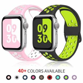 Apple Silicone Strap For Apple Watch band 38mm 40mm 42mm 44mm Rubber Sport wrist belt bracelet For iWatch band series 6 5 4 3 2 1 SE