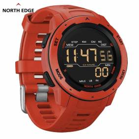 Edge NORTH EDGE Mars Men Digital Watch Men's Military Sport Watches Waterproof 50M Pedometer Calories Stopwatch Hourly Alarm Clock
