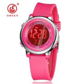 Ohsen Kids Watches Children Digital LED Fashion Sport Watch Cute boys girls Wrist watch Waterproof Gift Watch Alarm Men Clock