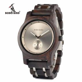 BOBO BIRD Wooden Watches Men Lovers's Timepieces Wood Metal Bracelet Quartz Watch relogio masculinoin Wholesale montre homme
