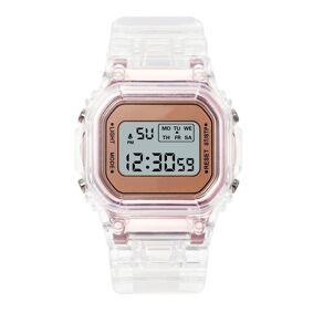 Multifunctional children's Sports Electronic Watch LED Waterproof Alarm Clock Date Kids Watches Transparent Strap Digital Watch