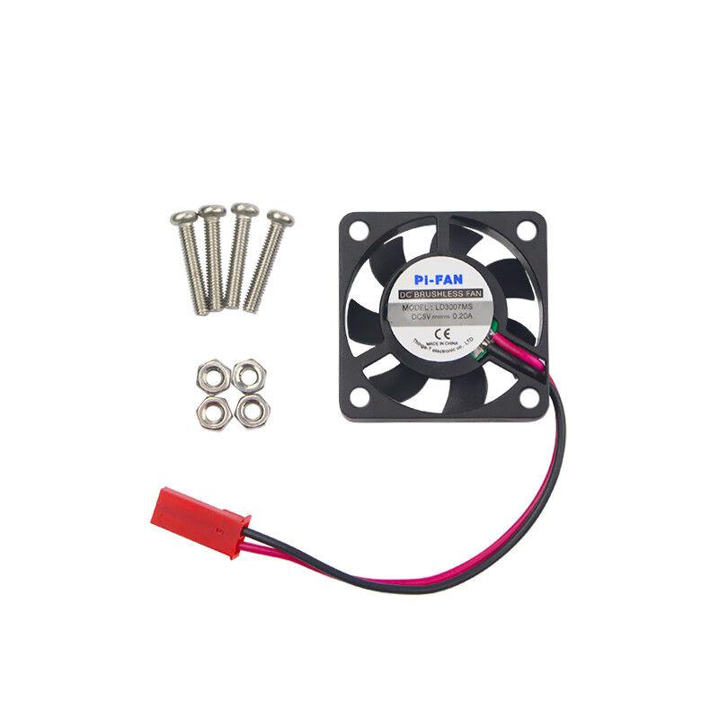 Raspberry Pi 3 Model B CPU Cooling Fan 5V 2P Brushless Fan 30*30*7 MM Cooling Fan for RPI 3B+/2 for Orange Pi for NESPi Case