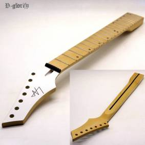 7 string guitar neck 24 frets white guitar head high gloss maple neck with middle line maple fingerboard guitar parts