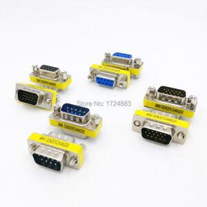 DB9/DB15 MINI Gender Changer adapter RS232 Com D-Sub to Male Female VGA plug connector 9 15pin