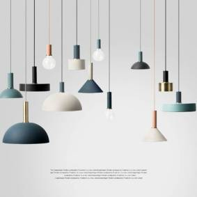 Creative Nordic creative combination cafe aluninum pendant lamp modern brief DIY home decor living room E27 bulb pendant lighting fixture