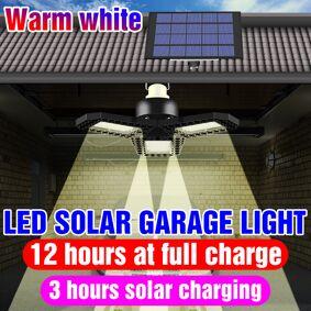 Solar Light Outdoor Waterproof Lamp Control Sensor Garage Lamp 60W 80W Bulb LED Solar Pendant Light Yard Path Emergency Lighting