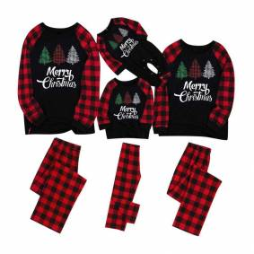 Plaid Christmas Pajamas Family Matching Outfits Look Mommy and Me Sleepwear Clothes Mother Father Daughter/Son/Baby Pyjamas Sets