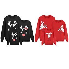 Family Matching Mom Kid Men Women Baby Kids Christmas Sweater Sweatshirt Pullover Tops Jumper Blouse Deer Xmas Boy Girl Clothes