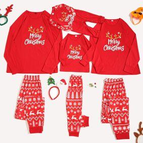 christmas pjamas family Merry Christmas Cartoon Pajamas Plaid Family Matching Sleepwear Pants Set pijamas familiares navidad Q4