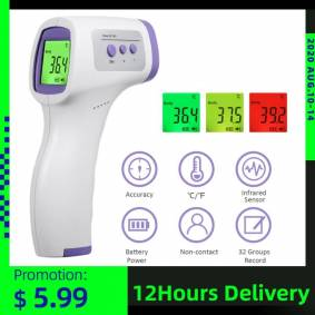 Digital Forehead Non-contact Infrared Thermometer LCD Backlight Fingert Pulse Oximeter Termometro Infravermelh Body Thermometer