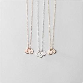 Delicated Custom Initial Necklace for Moms Personalized Name Necklace Mother's Necklace Gift Custom Dainty Mom Jewelry 9mm Disc