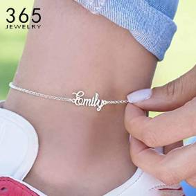 Personalized Name Anklet Foot Stainless Steel Chain Customized Anklets for Women Bohemian Beach Jewelry Fashion Wedding Gift