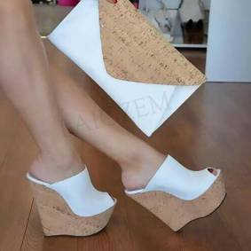 Women Super Platform Mules Wedges Slip on Sandals High Heels Sandals Tenis Party Ladies Female Shoes Woman Big Size 44 12 13 19