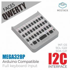 M5Stack Official M5 FACES QWERTY Panel Full-Featured Keyboard with MEGA328 Processor I2C ESP32 Development Extension Board