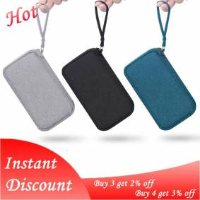 Travel Portable Durable Polyester Power Bank Pouch Storage Bag Protective Carrying Case Pack for Earphone Cell Phones Data Cable