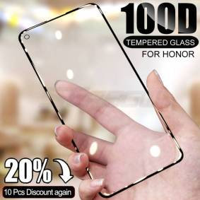 Huawei 100D Tempered Glass For Huawei honor 20 10 Lite 30 30S 20S 20i Screen Protector For Honor 20 Pro V20 V30 Pro Protective Film