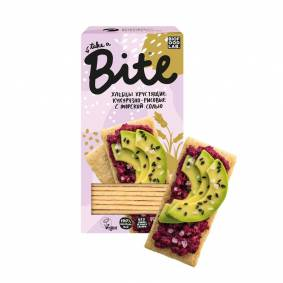 Corn rice bread bite with sea salt, 8 PCs/150g bytes