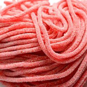 Marmalade spaghetti strawberry in sugar Fini 300 gr.