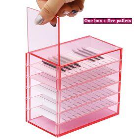 5 Layers Lash Boxes Storage-Box Pallet Lash-Holder Pallet For Individual Volume Lash Extension Display Stand Makeup Tools