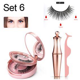 Magnetic liquid Eyeliner Magnetic False Eyelashes Easy to Wear Lashes Set 3D Mink Fake Eyelash Waterproof Lasting Eyelash Makeup