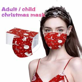 50PCS Christmas Disposable Face Mask 3 layer Medical mask Adult Kids surgical mask Non-woven Anti-dust face mouth mask fast ship