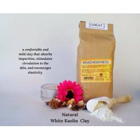 Pure New Pure Organic White Clay Kaolin Fine Powder Hair Face Mask All Skin 1000g Free Shipping