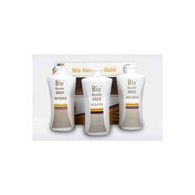 Bio Keratin Gold Permanent Brazilian Blow Dry Shampoo + Keratin and Hair Care Cream 700 ML Full Set Best Choice for Hair 5 Month
