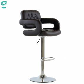 94987 Barneo N-135 Leather Kitchen Breakfast Bar Stool Swivel Bar Chair Dark Brown color free shipping in Russia