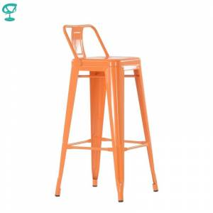 N242RAL Barneo N-242 high Metal Kitchen Breakfast Interior Stool Bar Chair Kitchen Furniture 14 colors free shipping in Russia