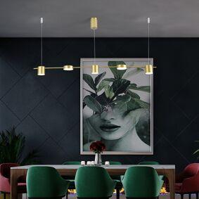 Restaurant chandelier simple modern dining table lamp Nordic creative long strip hotel front desk chandelier bar Chandelier