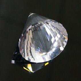 40mm Crystal Faceted Lamp Prism Circular Cone Pendulum Glass Art Suncatcher Pendant 3D Arrow Point Hanging Ornament Chandelier