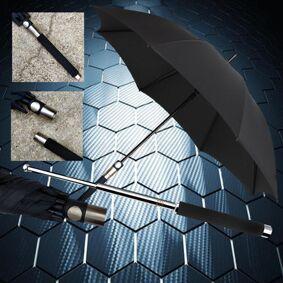 Metal Portable Self-defense Umbrella Outdoor Self-rescue Tool Car Broken Window Multifunctional Long Handle Umbrella 21/26inches