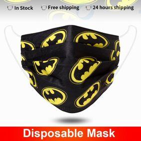 Mouth Masks Batman 3 layer safe Filter Face mask Anti-pollution Disposable Non Woven Masks Breathable Protective Mascarillas