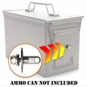 50 Cal Ammo can Steel Gun lock box Ammunition Gun safe box Military Army lockable case 40mm Pistol Bullet Valuables Storage