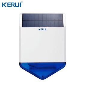 KERUI SJ1 Outdoor Wireless Solar Solar siren for GSM Alarm System Security Strobe Flash Siren Waterproof anti-tamper