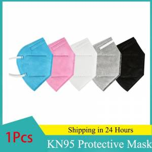 1Pcs 4 Colors KN95 Mask For Adult Protection Anti-Dust Face Mask 95% Activated Carbon Filtration FFP2 Mask Close To FFP3 Mask