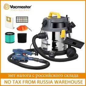 Vacmaster 1600W Industrial Vacuum Cleaner HEPA Filter Powerful Wet Dry Vacuum Cleaner Twin Fan Motor Stainless Steel Tank