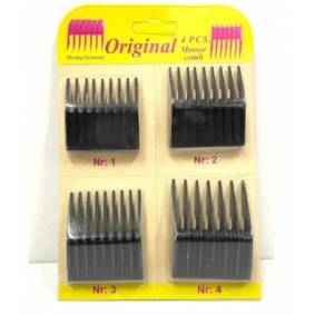 For Moser 1400 4pcs Shaving Comb Set Attachment Barber Replacement Tools Set Kit Hair Trimmer