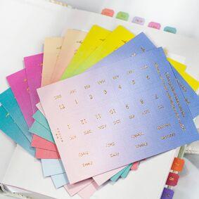 10PCS/Set Stationery Sticker Gradient Date Mark Index Sticker DIY Planner Diary Decoration Ornament Classify Mark Month Memo Kit